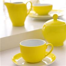 سرويس چيني 17 پارچه چاي خوري چيني زرين ايران سري ايتاليا اف مدل آفتاب درجه يک