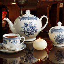 سرویس چینی 17 پارچه چای خوری چینی زرین ایران سری ایتالیا اف مدل فلورانس درجه یک