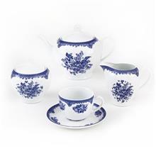 سرویس چینی 17 پارچه چای خوری چینی زرین ایران سری ایتالیا اف مدل فلورانس درجه عالی