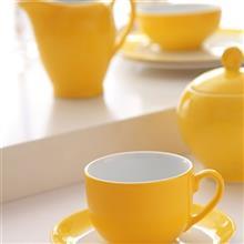 سرويس چيني 17 پارچه چاي خوري چيني زرين ايران سري ايتاليا اف مدل زعفران درجه يک