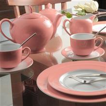 سرویس چینی 17 پارچه چای خوری چینی زرین ایران سری آلگرو مدل ماربل درجه یک