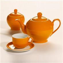 سرویس چینی 17 پارچه چای خوری چینی زرین ایران سری ایتالیا اف مدل نارنج درجه یک