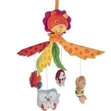 آويز موزيکال عروسکي مدل حيوانات جنگل