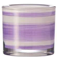 Leonardo Stripe Nobel 6cm Candle Holder
