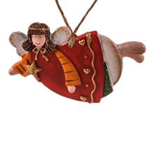 Angel Sleeping Starred With Red Clothing Ceramic Pendants