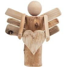 Hand Made Wooden Angel with Tiny Heart 12G741