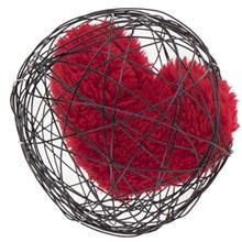 Paliz Globe with Heart 1091 Decorative