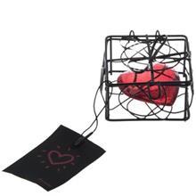 قفس مربعی دکوری همراه با قلب پالیز مدل 1067