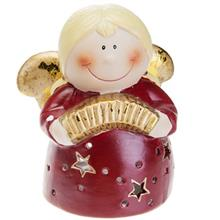 Red Angel Tealight Candlestick BDL014