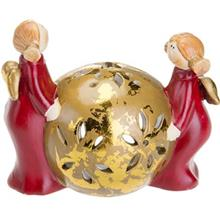 Sphere With Tow Angel Tealight Candlestick 99039