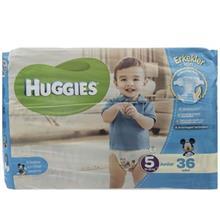 پوشک پسرانه هاگیز مدل Junior سایز 5 بسته 36 عددی