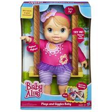 عروسک هاسبرو مدل Play And Giggles Baby سايز متوسط