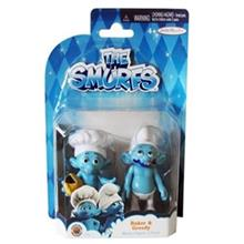 Smurfs Baker And Greedy Pack Of 2 Size 1 Doll