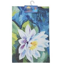 Mahsun White Flower Indoor Mat