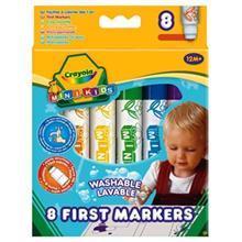 ماژیک رنگ آمیزی کرایولا مدل First Markers - بسته 8 رنگ