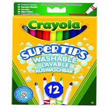 ماژیک رنگ آمیزی کرایولا مدل Supertips - بسته 12 رنگ