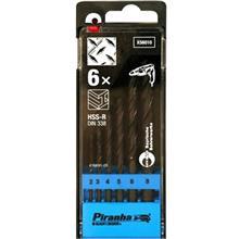 مجموعه 6 عددي  مته فلز بلک اند دکر سري Piranha مدل X56010