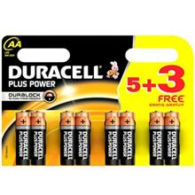Duracell Plus Power Duralock AA Battery Pack Of 8