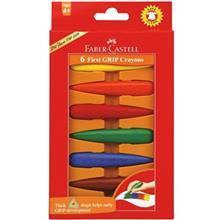 مداد شمعي فابر کاستل مدل فرست گريپ - بسته 6 رنگ