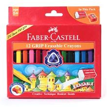 مداد شمعي فابر کاستل مدل گريپ ايريزبل - بسته 12 رنگ