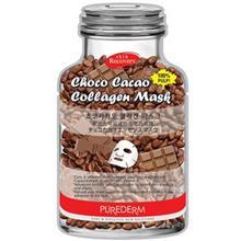 ماسک نقابي صورت پيوردرم مدل Choco Cacao - يک ورق