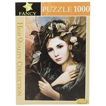 Fancy Girl With Sparrow 1000 Pcs Puzzle
