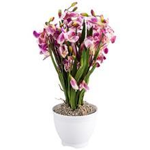 گلدان و گل مصنوعي هارموني مدل ارکيده MD3358A