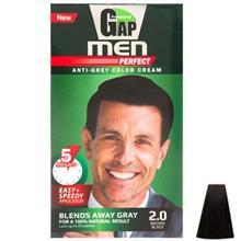 کیت رنگ مو گپ سری Men Perfect مدل Brown Black شماره 2.0