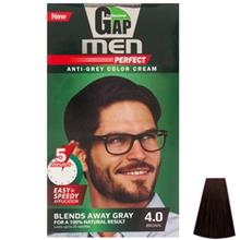 کيت رنگ مو گپ سري Men Perfect مدل Brown شماره 4.0