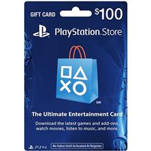 PlayStation 100 Dollars Gift Card