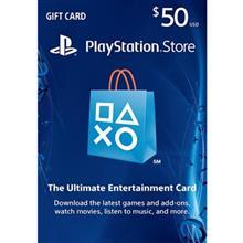 PlayStation 50 Dollars Gift Card