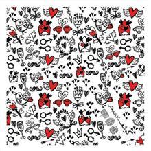 کادوپیچ پارچهای گوشه طرح قلب