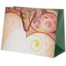 پاکت هدیه جیحون سری نیکی مدل بته جقه سبز سایز بزرگ