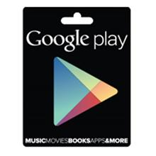 Google Play 15 Dollars Gift Card