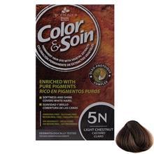 کیت رنگ مو سری Brown شماره 5N کالر اند سوان