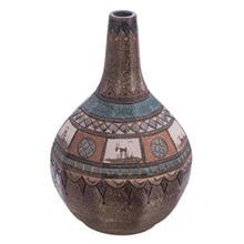 گلدان سفالی کارگاه مهر باستان مدل خیامی سایز بزرگ