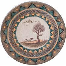 بشقاب آویز سفالی کارگاه مهر باستان مدل نیشابور