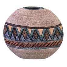 قمقمه سفالی کارگاه مهر باستان مدل دایره ای