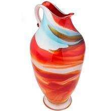 پارچ شیشه ای گالری گل کار مدل مرمری سه پوست سایز متوسط