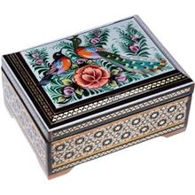 جعبه خاتم اثر خادم ملت طرح طاووس