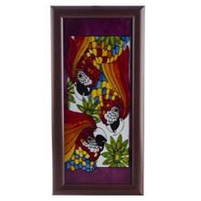 تابلو نقاشی روی شیشه گالری آثار هنر امروز طرح طوطی