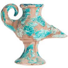 پیه سوز سفالی کارگاه ایران باستان با پوشش گلی