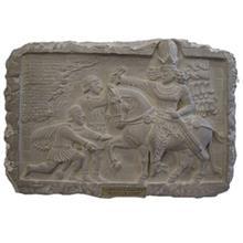 کتیبه پیروزی شاپور اول بر امپراتور روم کارگاه تندیس و پیکره شهریار کد MO680  سایز متوسط