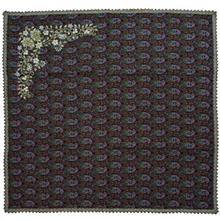 رومیزی ترمه خاتون طرح گل گوشه کد 130019