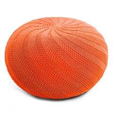 مبل پوف گالری دوک ریسه طرح گندم نارنجی