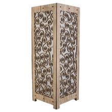 آباژور چوبی گالری آناهید طرح فرپیچ سایز بزرگ کد 93019
