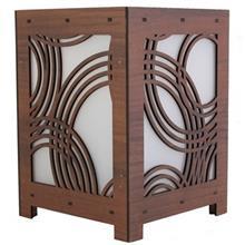 آباژور چوبی گالری آناهید طرح امواج سایز کوچک کد 93023