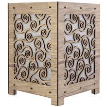 آباژور چوبی گالری آناهید طرح فرپیچ سایز کوچک کد 93024