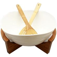 Silvia With Wooden Spoon 277146 Salad Bowl
