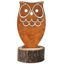 Leonardo Terra Owl Metal 18cm Statue